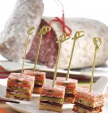 Dry Sausage mille-feuille
