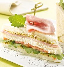 Club sandwich au Jambon Brocéliande